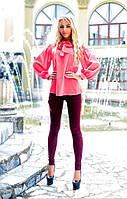 Женский костюм блуза - шифон жатка брюки - стрейч-джинс размеры: 42, 44, 46