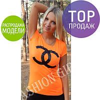 Женская футболка, летняя, с рисунком, стильная, разные цвета / женская летняя футболка, удобная, новинка