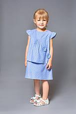 Платье для девочки (хлопок деним, принт звезды), фото 2