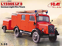 1:35 Сборная модель пожарного автомобиля Mercedes-Benz L1500S LF 8, ICM 35527