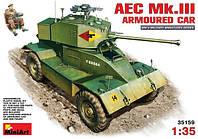 1:35 Сборная модель бронеавтомобиля AEC Mk.III  с водителем, MiniArt 35159