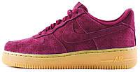 """Женские кроссовки Nike Air Force 1 Low Deep Garnet Suede """"Burgundy Gum"""" (Найк Аир Форс) бордовые"""