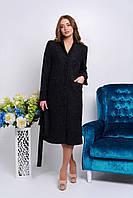 Классическое женское пальто черного цвета оптом