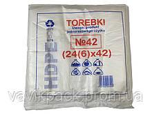 Пакет майка 24*42 100 шт  ( 0.160 кг )