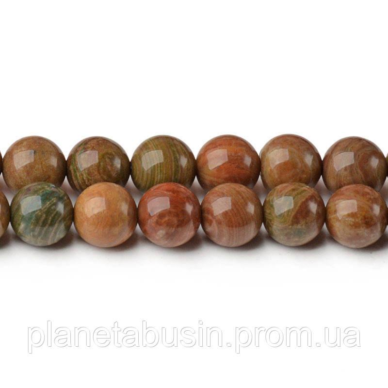 8 мм Земляная Яшма, CN310, Натуральный камень, Форма: Шар, Отверстие: 1мм, кол-во: 47-48 шт/нить
