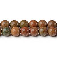 Земляная Яшма, Натуральный камень, На нитях, бусины 8 мм, Круглые, Отверстие 1 мм, кол-во: 47-48 шт/нить