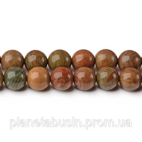 8 мм Земляная Яшма, CN310, Натуральный камень, Форма: Шар, Отверстие: 1мм, кол-во: 47-48 шт/нить, фото 2