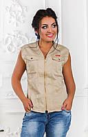 ДТ4670 Жилетка джинсовая размеры 42-50