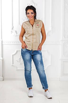 ДТ4670 Жилетка джинсовая размеры 42-50, фото 2