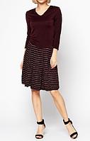 Женское платье темно-фиолетового цвета от Philippe Matignon, р. S-L