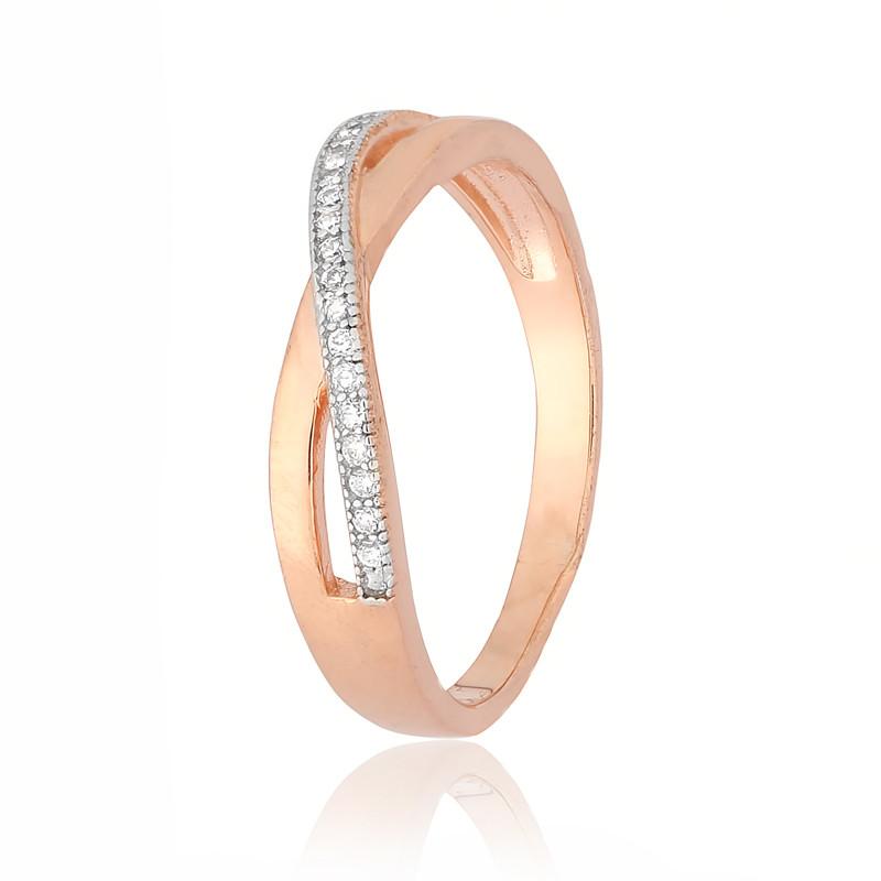 """Серебряное кольцо с камнями и позолотой """"231"""""""