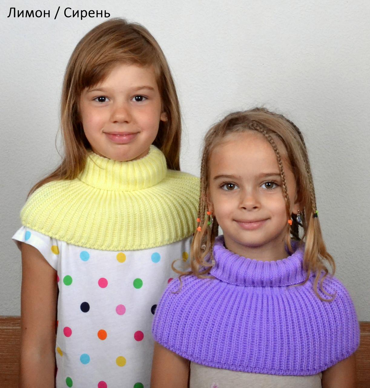 Манишка детская шарф