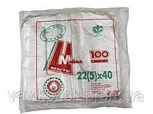 Пакет майка 22*40   100 шт (0.130 кг )