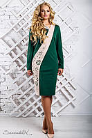 Зеленое женское платье 2328 Seventeen  50-56  размеры