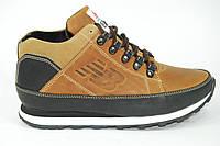 Мужские кроссовки на зиму с мехом New Balance. Brown