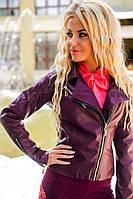 Куртка. Ткань основы - эко-кожа. Подкладка - атлас. На спинке декоративная нашивка.4 цвета апро №502
