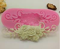 Молд силиконовый Розовый букет.