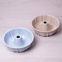 Форма для выпечки кекса с мраморным антипригарным покрытием Ø25*8см Kamille a6032
