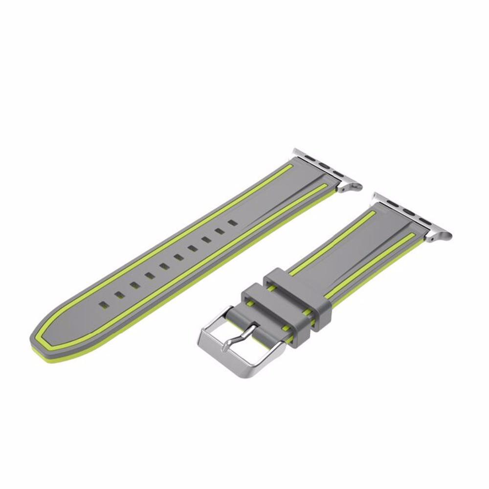Силиконовый ремешок Primo Color Strip для Apple Watch 42mm / 44mm Grey-Yellow