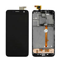 Дисплей (экран) для Alcatel One Touch 6012 Idol mini Sate + с сенсором (тачскрином) и рамкой черный