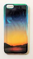 Чехол на Айфон 6/6s Силикон+пластик перламутр Рассвет Полупрозрачный, фото 1