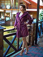 Изящный женский махровый халат