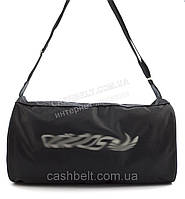Стильная прочная спортивная вместительная сумка АДИДАСart. бочонок черная (100864)