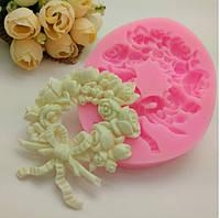 Молд силиконовый Веночик из роз.