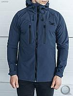 Весенне-осенняя куртка Staff - Soft Shell gray Art . LE0009 (тёмно-серый)
