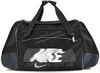 Стильная спортивная вместительная сумка art. 517  черная/серый (100109)
