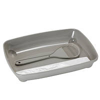 Moderna Arist-o-tray Туалет с лопаткой для котят теплый серый