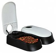 Кормушка Trixie TX2 Automatic Food Dispenser для собак автоматическая двойная, 27х7х24 см