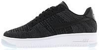 """Женские кроссовки Nike Air Force 1 Ultra Flyknit Mid """"Dark Grey/Black"""" (найк аир форс низкие) черные"""