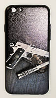 Чехол на Айфон 6/6s White Knights Wear it рифленый Пластик Пистолет и Нож, фото 1