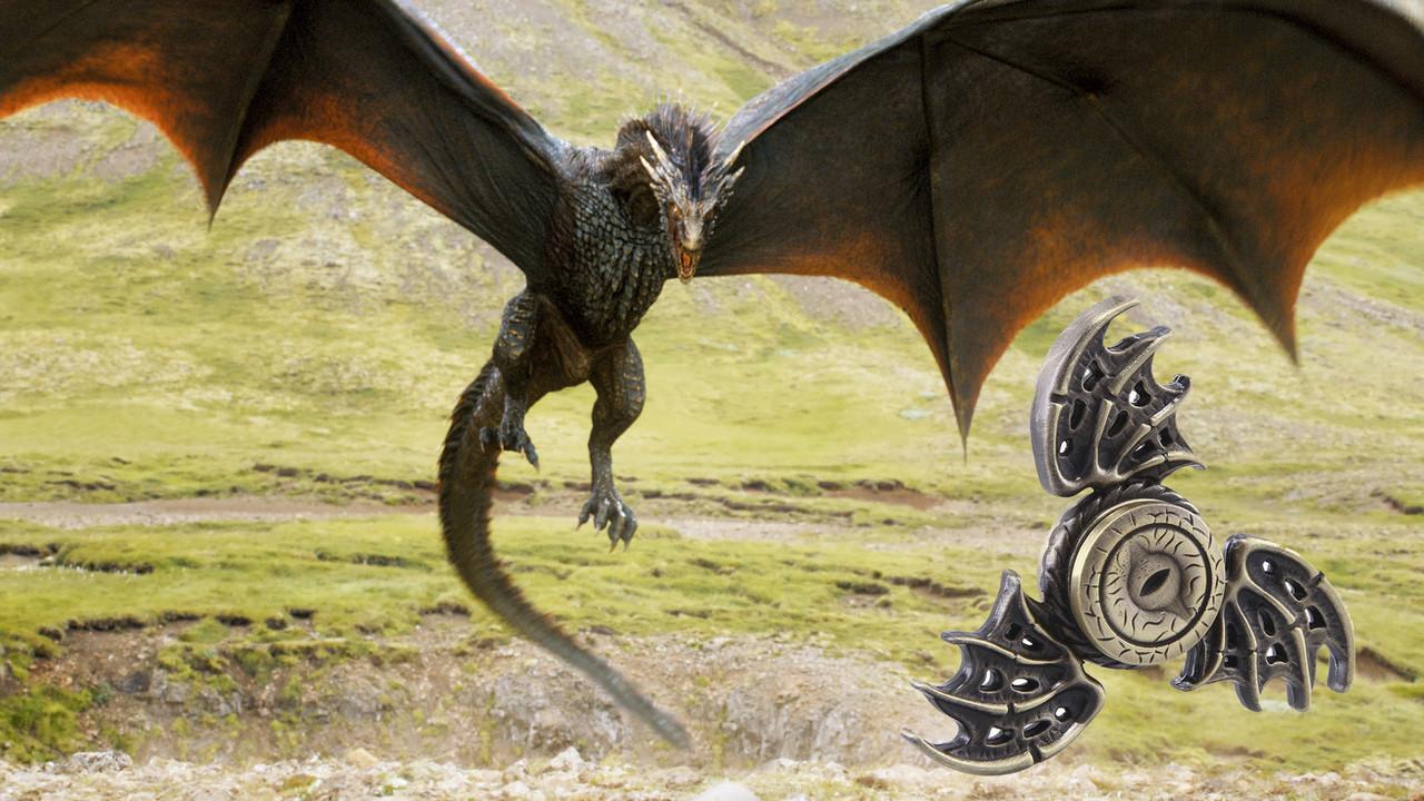 Fidget Spinner, Спиннер металлический Глаз Дракона, Игра Престолов.