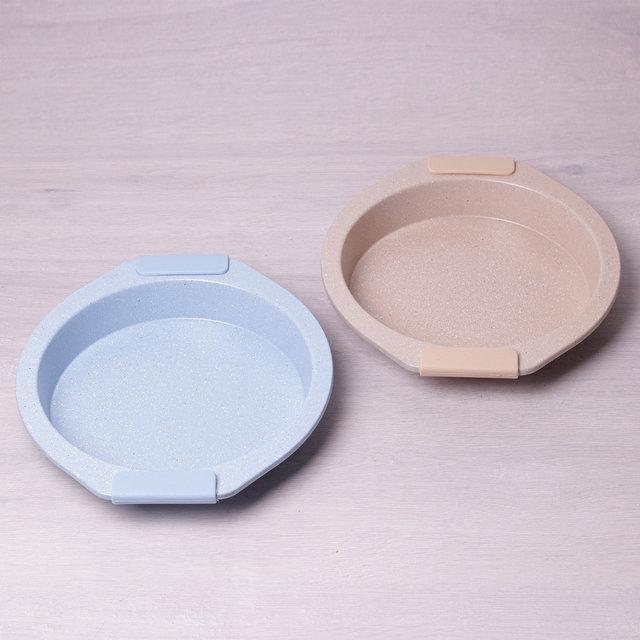 Форма для запекания с антипригарным мраморным покрытием и силиконовыми ручками 28.5*26.5*4см Kamille a6034