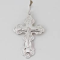 Изделия без вставок Крест серебряный ажурный