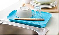 Пластиковый коврик-дуршлаг для раковины (голубой), фото 1