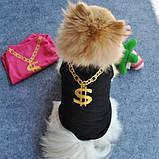Жилетка розовая для собачки девочки Золотой доллар, фото 2