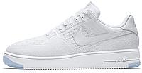 "Женские кроссовки Nike Air Force 1 Ultra Flyknit Low ""White Ice"" (найк аир форс низкие) белые"