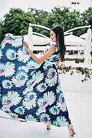 Длинное женское платье с запахом 406 Б