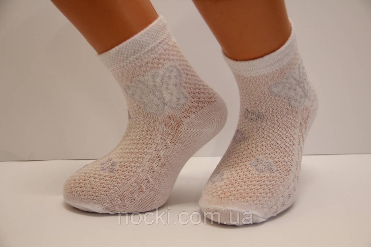 Ажурные детские компъютерные носки Ф3 5