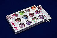 Набор шестигранников, для дизайна ногтей,цветные