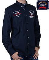Рубашка Paul Shark-2323,темно-синяя
