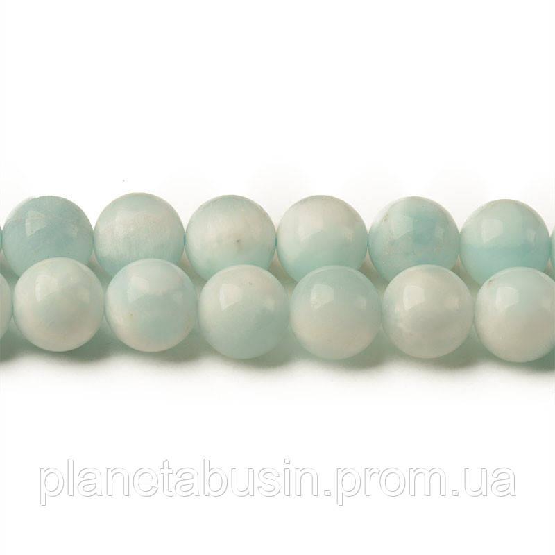 8 мм Ларимар А, CN313, Натуральный камень, Форма: Шар, Отверстие: 1мм, кол-во: 47-48 шт/нить
