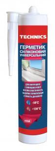 Герметик силиконовый универсальный,белый,230 мл ,Technics,12-256,Киев.