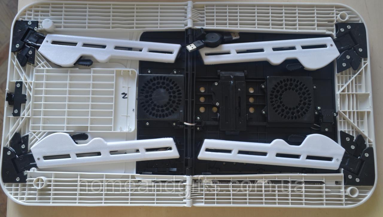 Портативный столик для ноутбука с охлаждением 2 USB кулерами E-Table LD-09