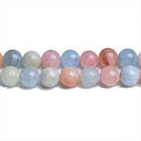 Натуральный Морганит, Натуральный камень, бусины 8 мм, Шар, Отверстие 1 мм, количество: 47-48 шт/нить