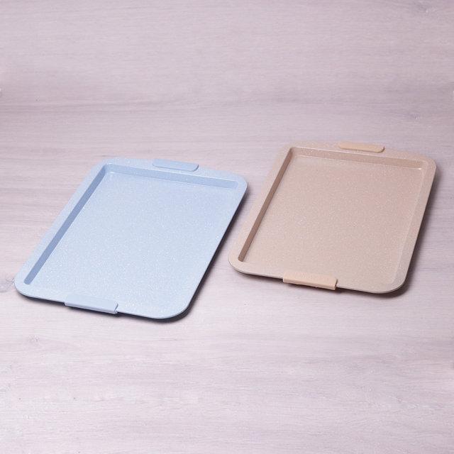 Форма для запекания с антипригарным мраморным покрытием и силиконовыми ручками 43*29.5*2см Kamille a6026
