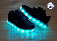 Кроссовки со светящей LED подошвой зарядка USB кабелем 26, 27, 28, 39, 30, 31